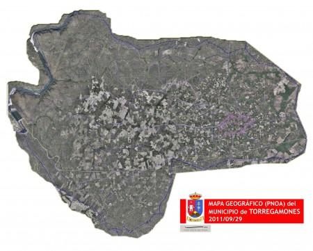 Mapa del término municipal de Torregamones realizado a partir de la cartografía del Catastro de España