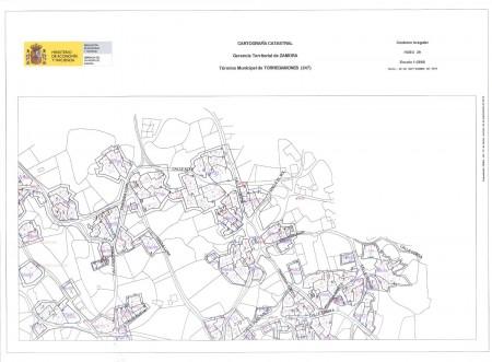 Mapa Urbano de Torregamones (Cuadrante 2)