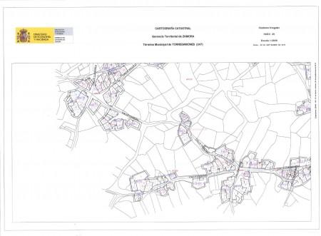 Mapa Urbano de Torregamones (Cuadrante 3)