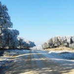 Foto 022. Camino de Vallanjo. Diciembre 2013. 'Caminando hacia el infinito'.