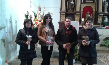 Junta de la Cofradía de San Ildefonso 2015: Regidoras: Ana (en su lugar, María la representa) y Silvia. Amo 2015: Jesús. Amo 2014: Roberto (en su lugar, Marta lo representa)