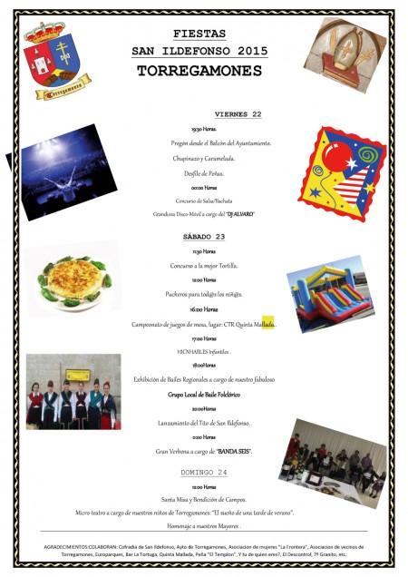 Cartel Fiestas de San Ildefonso 2015 (22, 23 y 24 de mayo) (formato JPG)