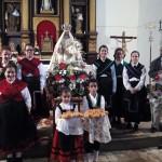 Torregamones: Fiestas Virgen del Templo - 18 Octubre 2015 (Foto 01): Ofertorio en honor de la Virgen del Templo y Baile del Ramo