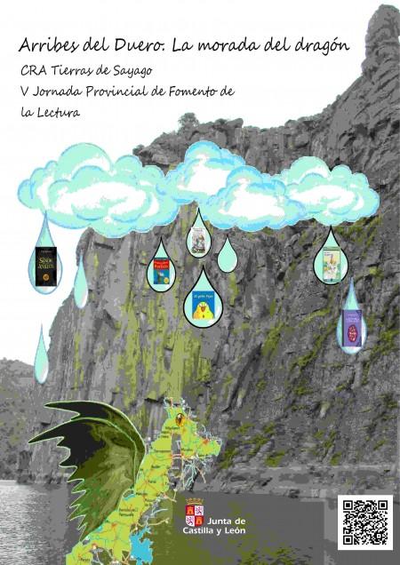 2016. Cartel del CRA Tierras de Sayago: Arribes del Duero. La morada del dragón (V Jornada Provincial de Fomento de la Lectura)