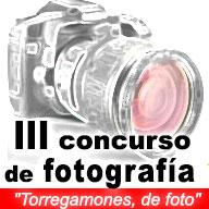 logo del III concurso online 2016 de fotografía: 'Torregamones, de foto'
