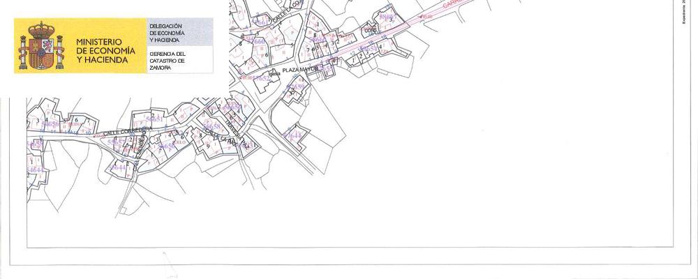 Mapa catastral urbano de Torregamones