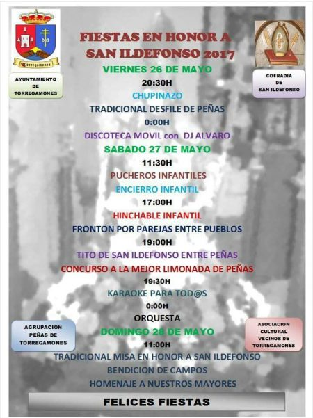 Programa de las Fiestas de San Ildefonso 2017 (Torregamones)