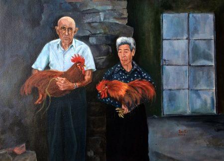 Mis abuelos Manuel Quintano Barrios e Ignacia Alfonso Miano - Óleo de AntonioSastre.es
