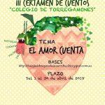"""III Certamen de cuentos """"Colegio de Torregamones"""" (2018)"""