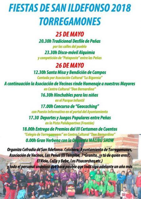 Programa de Fiestas de San Ildefonso 2018 (25 y 26 de mayo)