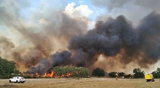 Sofocado incendio entre Torregamones y Moralina 23/07/2019